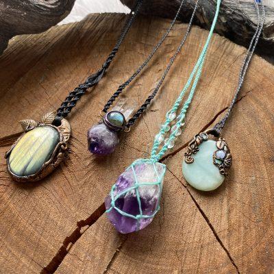 Macrame & Crystal Jewellery